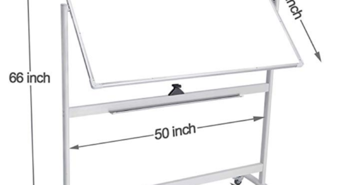 """Double-Sided Magnetic Mobile Dry Erase Board 48"""" x 36"""" ($164.99) 4"""