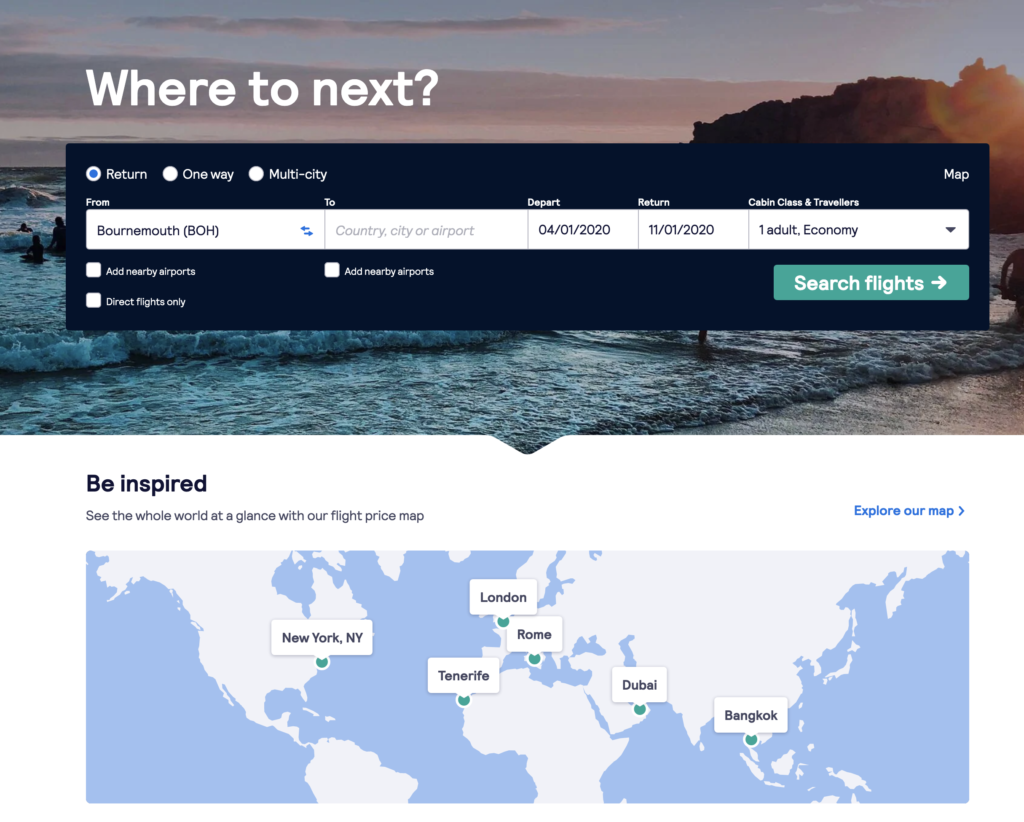 Cheaper flights with Skyscanner