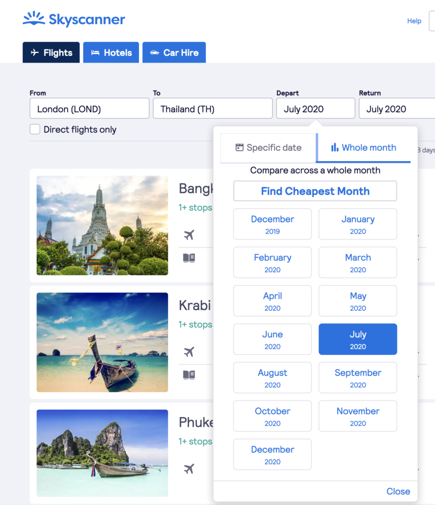 Book cheap flights with Skyscanner