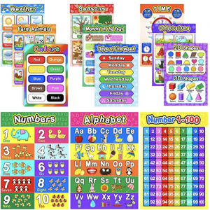 Online teachers posters: phonics, colours, days of the week