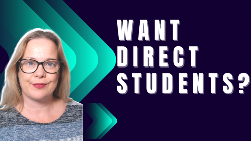 How to get your OWN direct students: In 21 days or less 3